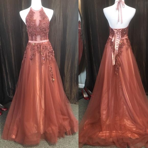 Hebeos Dresses Dusty Rose Formal Dress Poshmark